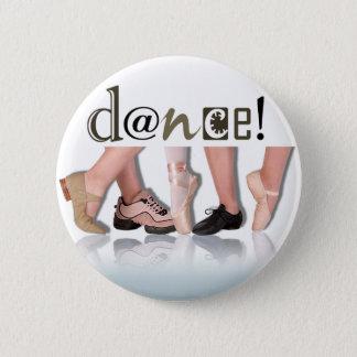 "Bóton Redondo 5.08cm Da ""pés"" - coreógrafo dança, dançarino, instrutor"