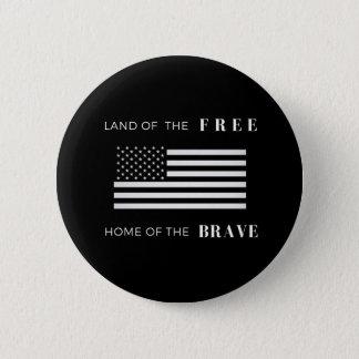 Bóton Redondo 5.08cm Da polegada patriótica de 2 ¼ de América botão