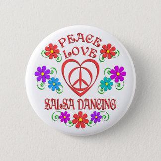Bóton Redondo 5.08cm Dança da salsa do amor da paz
