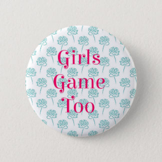 Bóton Redondo 5.08cm Das meninas do jogo botão demasiado