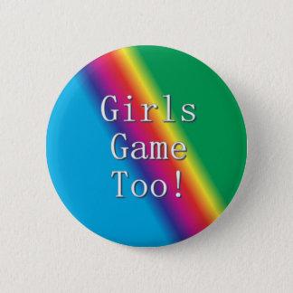 Bóton Redondo 5.08cm Das meninas do jogo botão do arco-íris demasiado