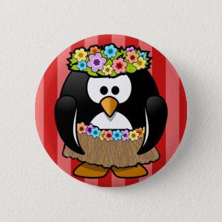 """Bóton Redondo 5.08cm De """"crachá do hula Hula"""" do pinguim"""