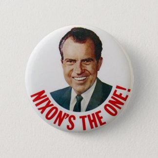 Bóton Redondo 5.08cm De Richard Nixon crachá 1968 de campanha eleitoral