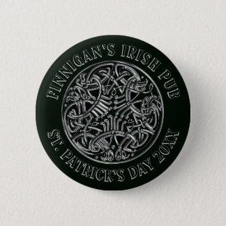 Bóton Redondo 5.08cm De St Patrick irlandês do bar do design celta o