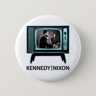 Bóton Redondo 5.08cm Debate 1960 de Kennedy Nixon