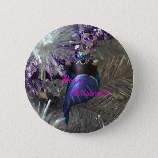 Bóton Redondo 5.08cm Decoração azul impressionante do pássaro do Feliz