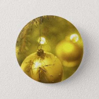 Bóton Redondo 5.08cm Decoração da árvore do feriado do ouro