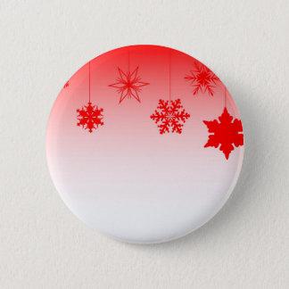 Bóton Redondo 5.08cm Decorações vermelhas do Natal