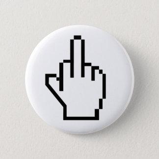 Bóton Redondo 5.08cm dedo médio de 8 bits