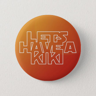 Bóton Redondo 5.08cm Deixe-nos ter um Kiki - botão