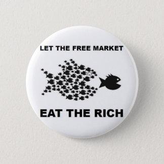 Bóton Redondo 5.08cm Deixe o mercado livre comer os ricos