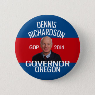 Bóton Redondo 5.08cm Dennis Richardson para o pino do governador