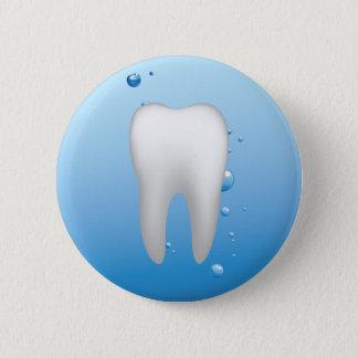 Bóton Redondo 5.08cm Dentista dental branco do escritório do dente & da