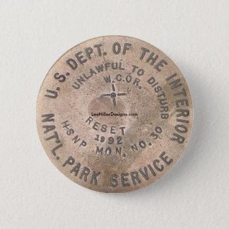 Bóton Redondo 5.08cm Departamento de Hot Springs, AR E.U. do botão
