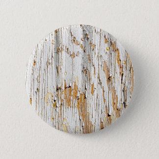 Bóton Redondo 5.08cm Descascando o abstrato branco da pintura