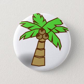 Bóton Redondo 5.08cm Desenho da palmeira