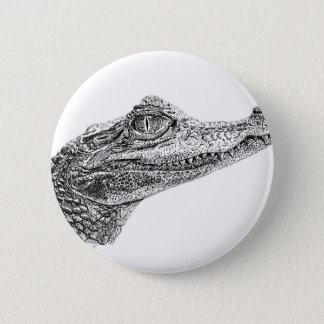 Bóton Redondo 5.08cm Desenho da tinta do crocodilo do bebê