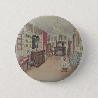 Bóton Redondo 5.08cm Desenho de um Interior Armário du Salão de beleza