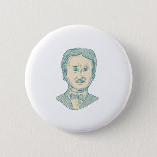 Bóton Redondo 5.08cm Desenho do escritor de Edgar Allan Poe