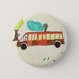 Bóton Redondo 5.08cm desenho do ônibus pelo crachá do miúdo