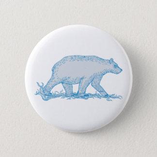 Bóton Redondo 5.08cm Desenho lateral de passeio do urso polar