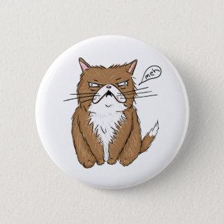 Bóton Redondo 5.08cm Desenho mal-humorado engraçado do gato de Meh