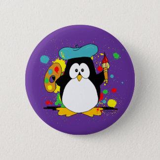 Bóton Redondo 5.08cm Desenhos animados artísticos do pinguim