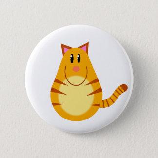Bóton Redondo 5.08cm Desenhos animados do gato de gato malhado