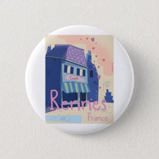 Bóton Redondo 5.08cm Desenhos animados do vintage de Rennes France