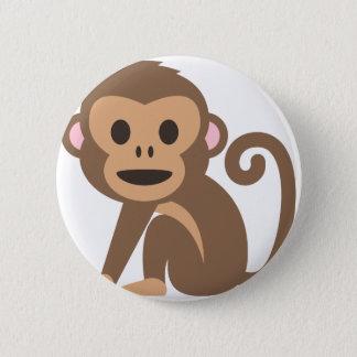 Bóton Redondo 5.08cm Desenhos animados felizes do macaco