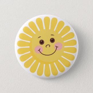 Bóton Redondo 5.08cm Desenhos animados Sun