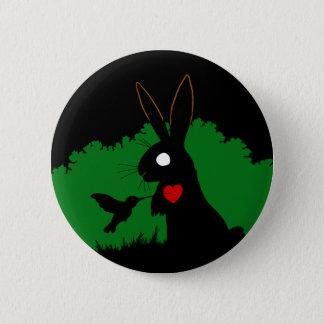 Bóton Redondo 5.08cm Design 1 do botão do coelho da sombra