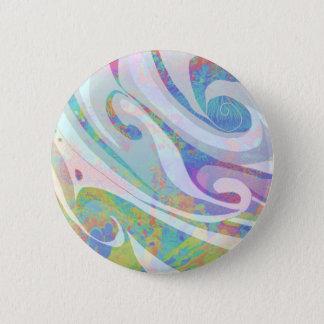 Bóton Redondo 5.08cm Design abstrato das ondas das cores