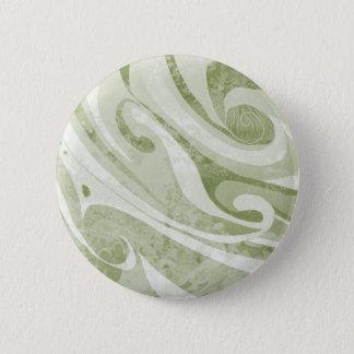 Bóton Redondo 5.08cm Design abstrato das ondas verdes