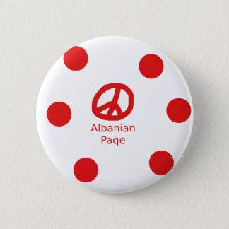 Bóton Redondo 5.08cm Design albanês do símbolo de paz