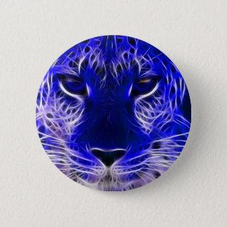 Bóton Redondo 5.08cm design azul do fractal da chita
