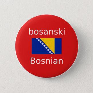 Bóton Redondo 5.08cm Design bosniano da língua
