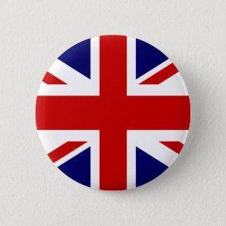 Bóton Redondo 5.08cm Design britânico do botão | Union Jack do pinback