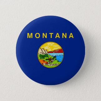 Bóton Redondo 5.08cm Design da bandeira do estado de Montana