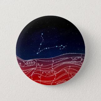 Bóton Redondo 5.08cm Design da constelação dos peixes