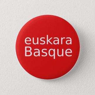 Bóton Redondo 5.08cm Design da língua Basque