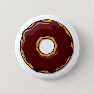 Bóton Redondo 5.08cm Design da rosquinha do chocolate dos desenhos