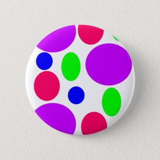 Bóton Redondo 5.08cm Design de néon dos círculos