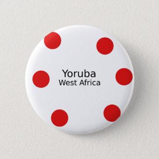 Bóton Redondo 5.08cm Design de Yoruba (língua de África ocidental)