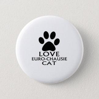 BÓTON REDONDO 5.08CM DESIGN DO CAT DO AMOR EURO-CHAUSIE