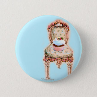Bóton Redondo 5.08cm Design do cupcake do tea party