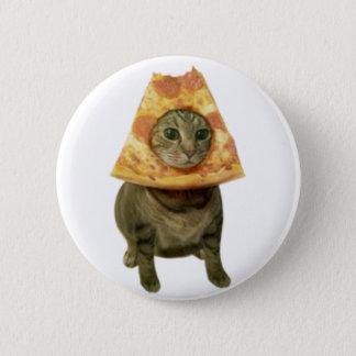 Bóton Redondo 5.08cm Design do gato da pizza