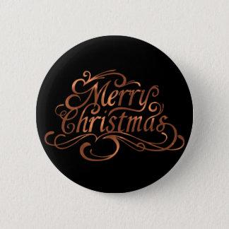 Bóton Redondo 5.08cm design do roteiro do Feliz Natal do Cobre-olhar