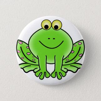 Bóton Redondo 5.08cm design do verde da inspiração da arte do sapo