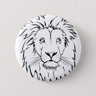 Bóton Redondo 5.08cm design do vetor do desenho do leão